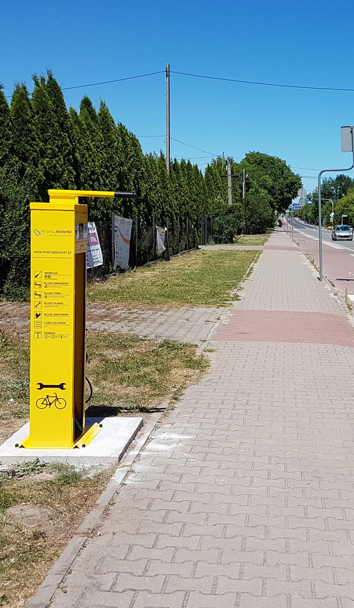 Estación de reparación de bicicletas Premium